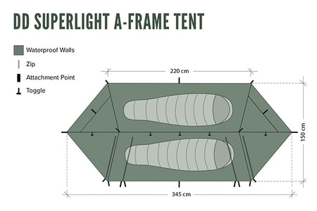 DD SUPERLIGHT A-FRAME TENT