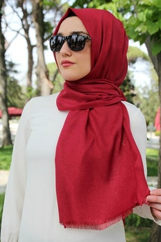 Sparkle Sjal Ruby Red