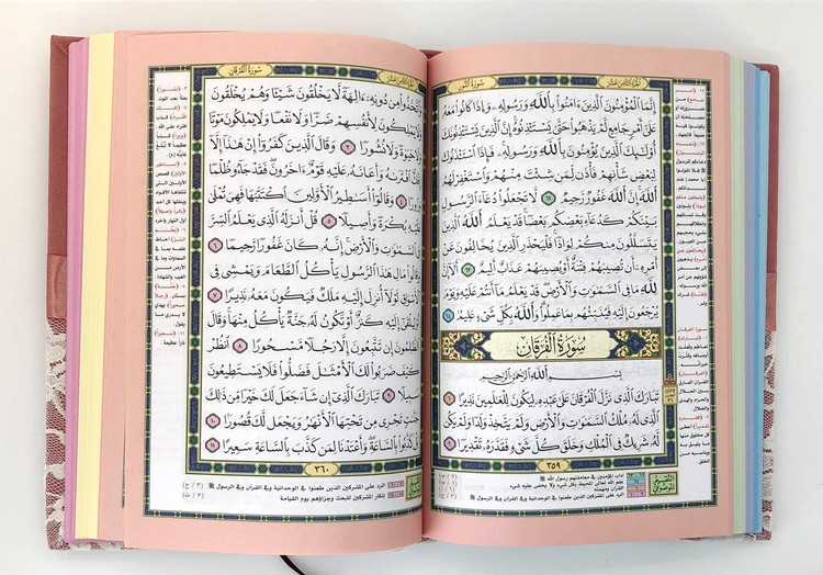 Spets Quran Cerise