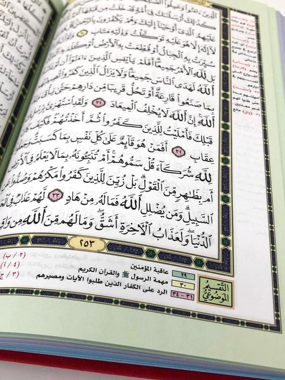 Blommig Quran Marinblå