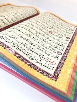 Rainbow Quran Leather Midi