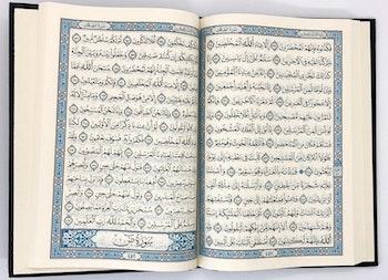 Sammet Koran Ljusblå