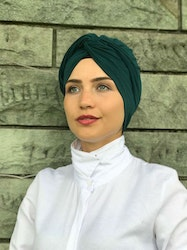 Twist Turban Mörkgrön