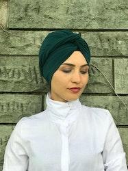 Twist Turban Spandex Grön
