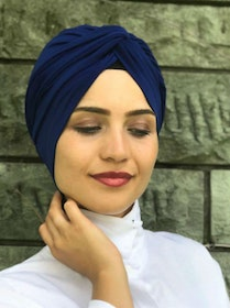 Twist Turban Marinblå