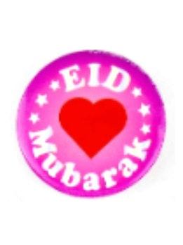 Eid Mubarak Rosa Knappnål