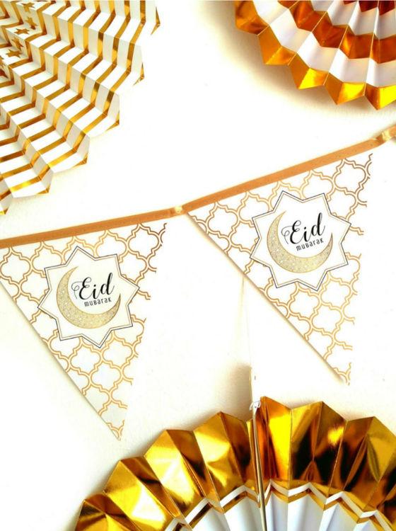 Eid Mubarak Flaggor Guld