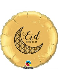 Eid Mubarak Folieballong Guld