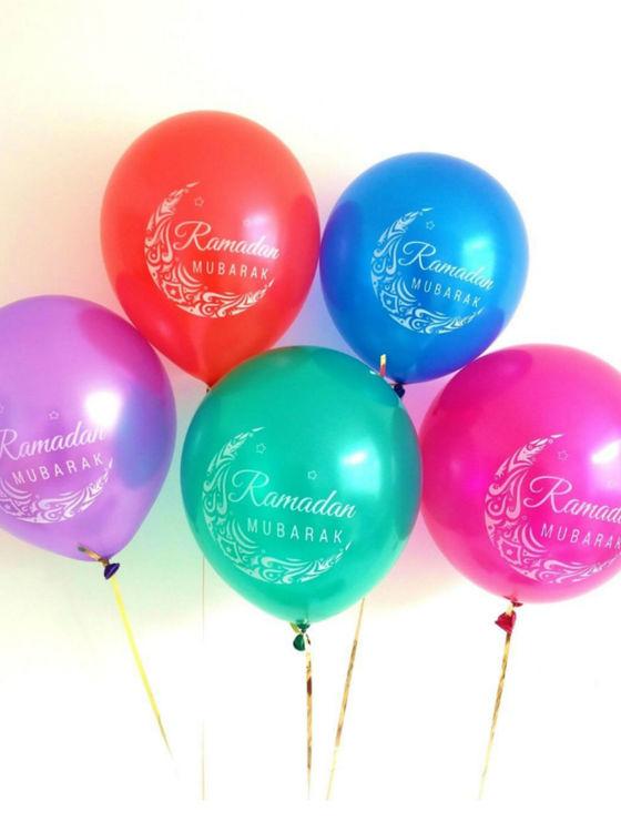 Ramadan Mubarak Ballonger olika färger