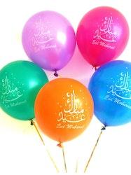 Eid Mubarak Ballonger multi-färger