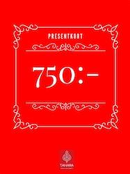 Presentkort 750:-