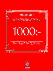 Presentkort 1000:-