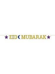 Eid Mubarak Bokstavs Banner Glitterpapper