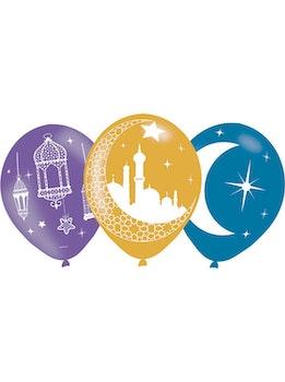 Eid / Ramadan Ballonger i Latex 6st