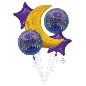 Eid Mubarak folieballonger 5st