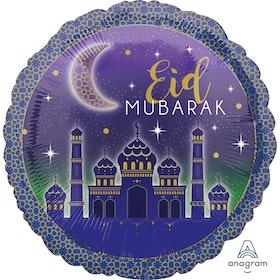 Eid Mubarak Foileballong Lila
