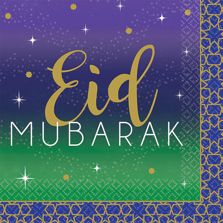 Eid Mubarak servetter 25cm