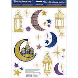 Eid / Ramadan fönster glitter dekoration