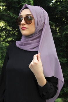 Chiffong Sjal Violett