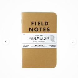 Memo Books Mixed 3-Pack Anteckningsbok