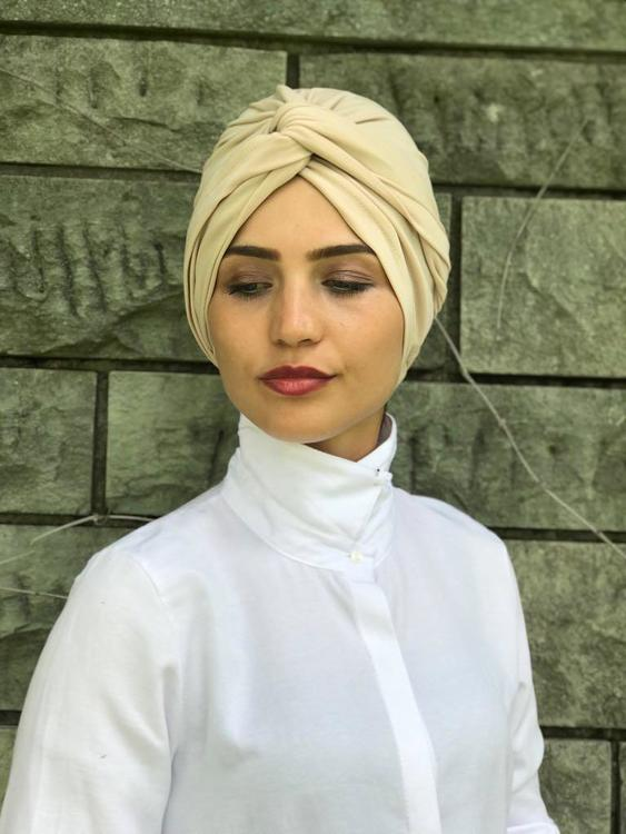 Twist Turban Beige