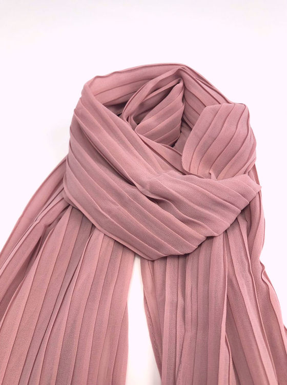Chiffon Pleated Sjal