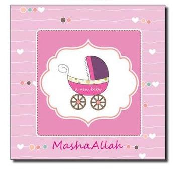 MashaAllah Baby Girl Vykort