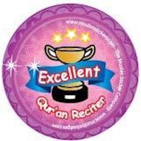 Excellent Quran Reciter Knappnål Rosa