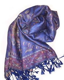 Paisley Pashmina Royal Blå