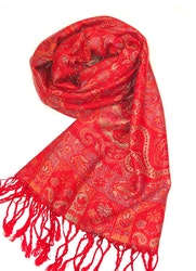 Paisley Pashmina Ruby Red