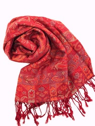 Paisley Pashmina Cherry Red
