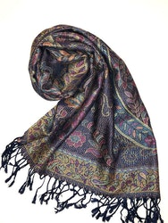Paisley Pashmina Midnight Blue