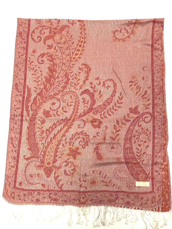 Paisley Pashmina Apple Red