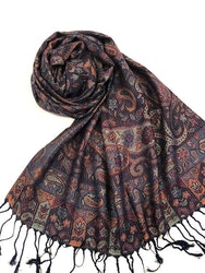 Paisley Pashmina Night Sky
