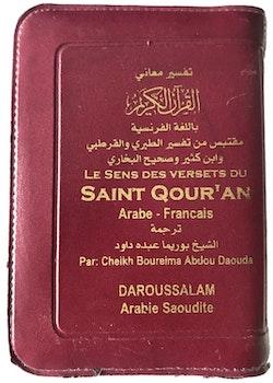 Koranen på franska med dragkedja