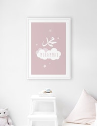 Muhammad Cloud Pink Poster