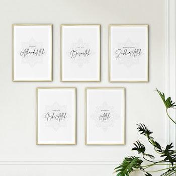 5 Välsignelser Kombination Poster