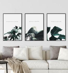 Scandi Botanic Kombination Poster