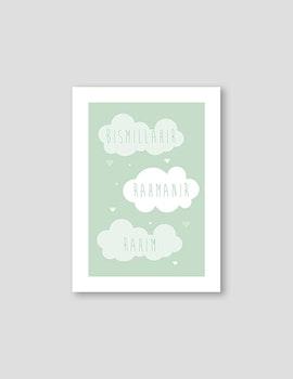 Bismillah Cloud Green Poster