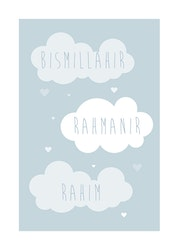 Bismillah Cloud Blue Poster