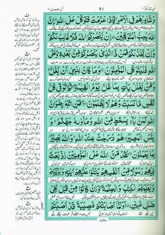 Al Quran Al Karim Translation & Tafseer Persian/Urdu