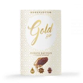 Gold dates caramel chocolate