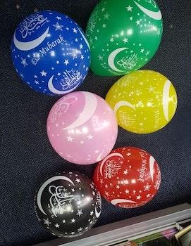 Eid Mubarak Ballonger 5 Färger