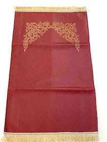 Deluxe Leather Bönematta Vinröd
