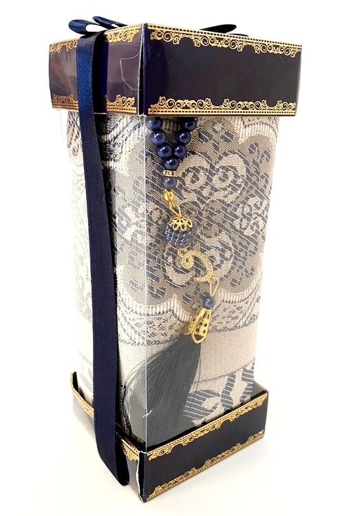 Gift Set Bönematta + Radband Marinblå