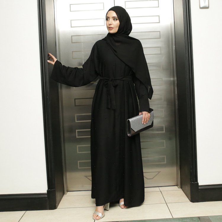 Rima Abaya + Sjal Svart
