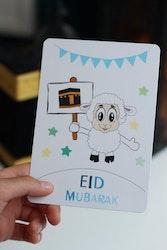 Enkel Eid Mubarak Vykort Får/Kabah