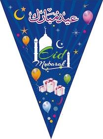 Eid Mubarak Flaggor Mörkblå