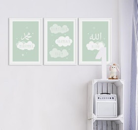 Cloud Set Green Poster