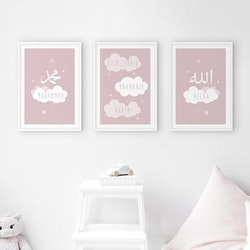 Cloud Set Pink Poster